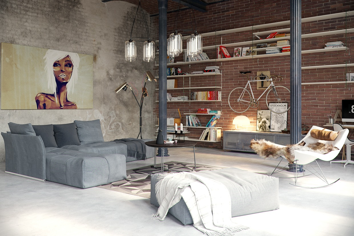 converted industrial spaces becomes gorgeous apartments. Black Bedroom Furniture Sets. Home Design Ideas