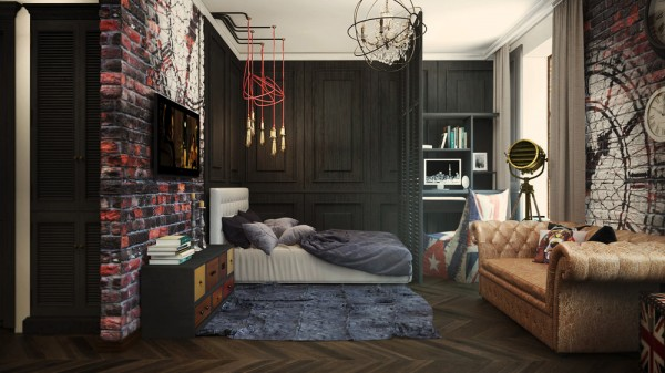 Eclectic Bedroom Masculine