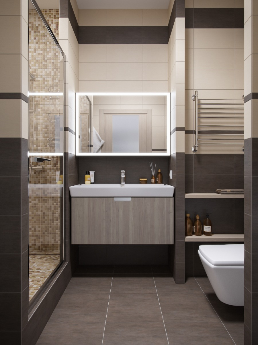 Bathroom Shower Design Ideas: Small, Smart Studios With Slick, Simple Designs