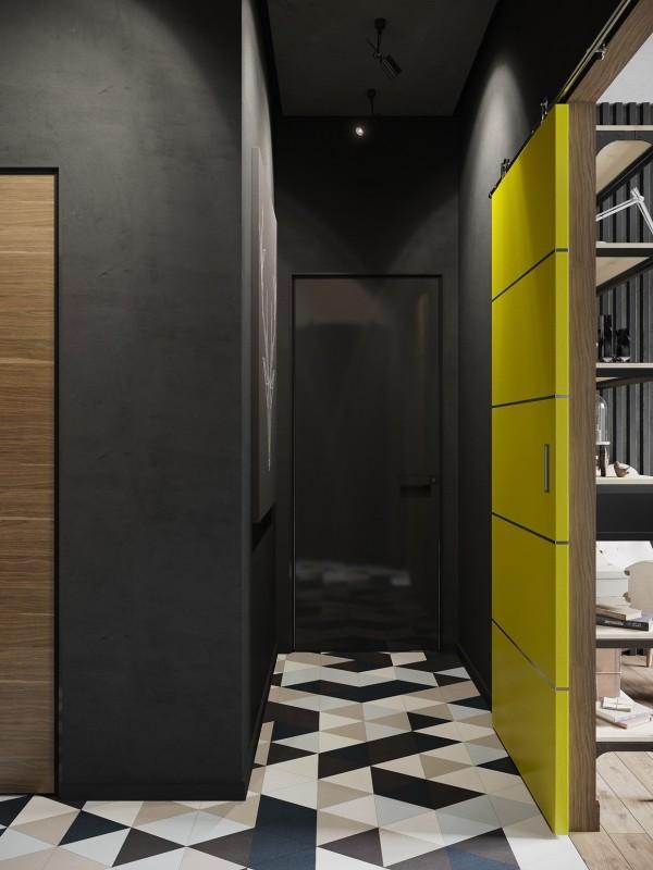 Sliding room divider a hipster inspired design concept for russian gaming magazine editor sliding