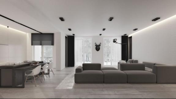 An Open Floorplan Highlights a Minimalist Design