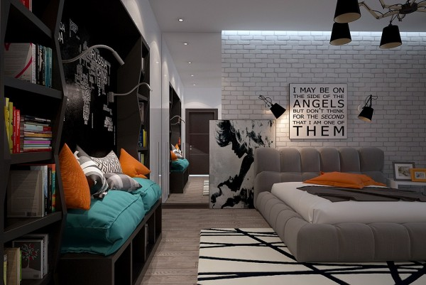 Funky rooms that creative teens would love teen design · the second space from visualizer svitlana petelko is a more typical bedroom with a