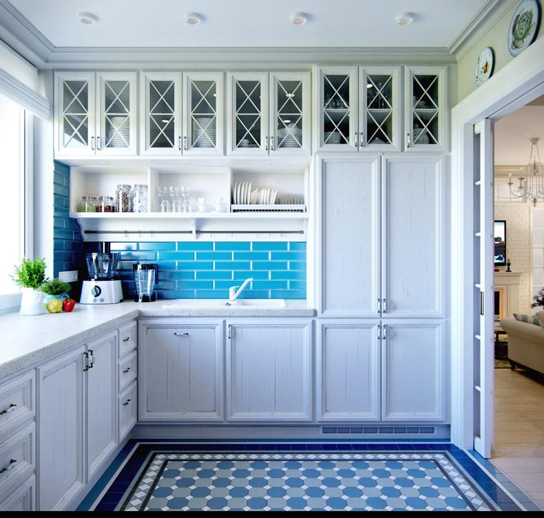 blue-kitchen-decor  Interior Design Ideas.