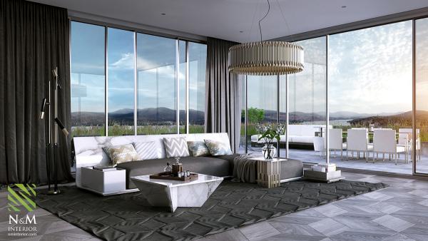 WIth ánh sáng mặt trời từ nhiều góc độ, phòng khách này là một không gian hoàn hảo cho phơi dưới ánh sáng ấm áp - của ánh nắng mặt trời và thiết kế - tại bất kỳ thời gian của năm.