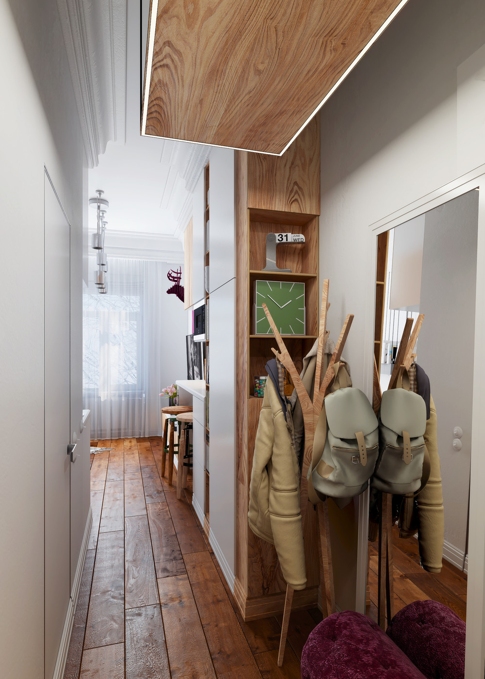 Idee Deco Couloir Moderne designing for super small spaces: 5 micro apartments
