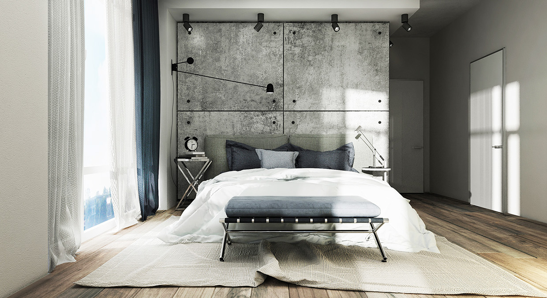 Concrete Accent Wall Interior Design Ideas