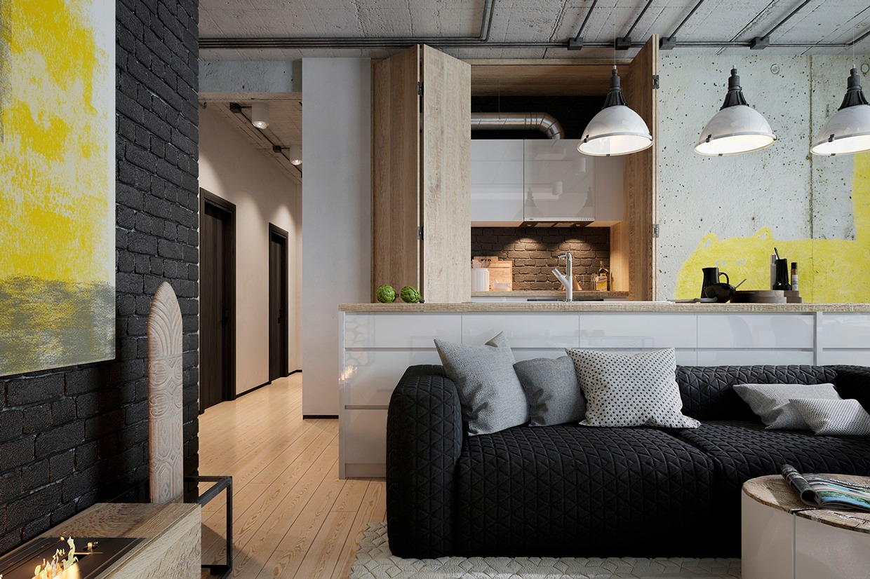 Two homes for stylish young families - Design my living room ...