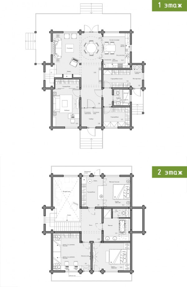 2 provence style apartment designs with floor plans