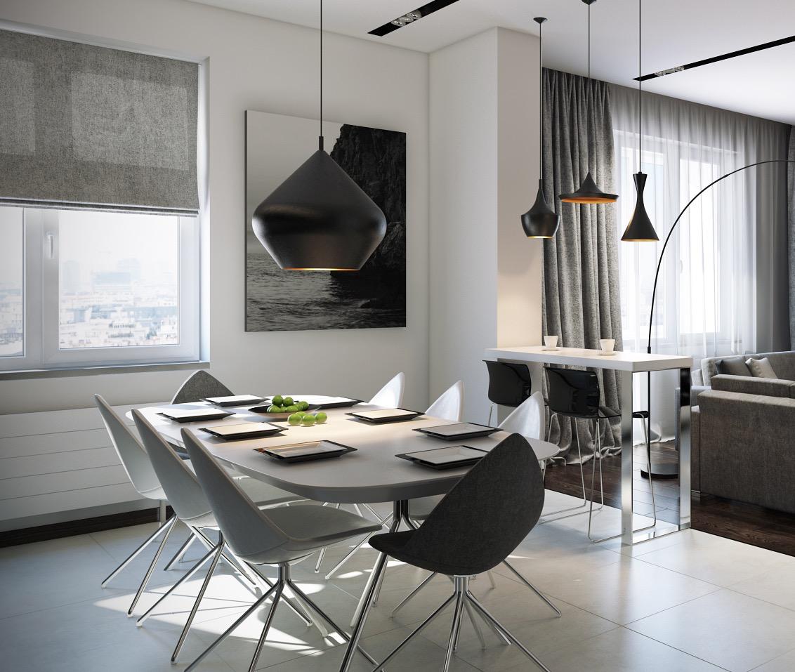 mod dining room interior design ideas. Black Bedroom Furniture Sets. Home Design Ideas
