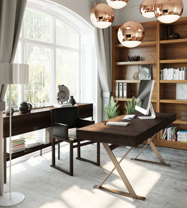 Home Office Designs Living Room Decorating Ideas: 3 Examples Of Modern Simplicity