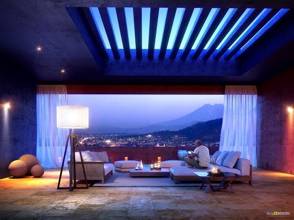 Một cái nhìn tuyệt đẹp là một tính năng tuyệt vời trong phòng này sống kiểu dáng đẹp, mà ngay cả những trần mở ra vào bầu trời.