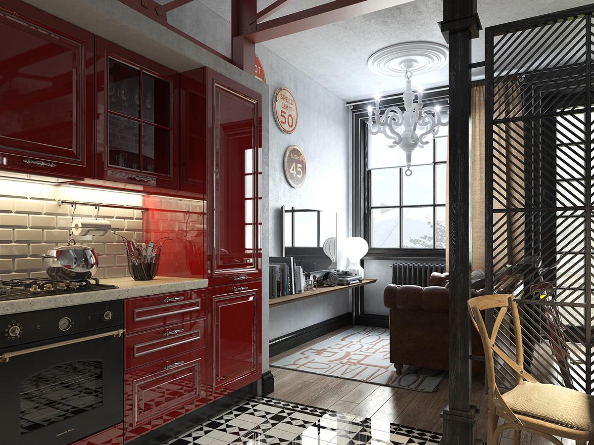 Red Kitcheninterior Design Ideas