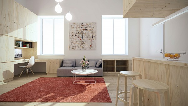 Of course plenty of natural light is always ideal for a small space and this apartment has that too 2