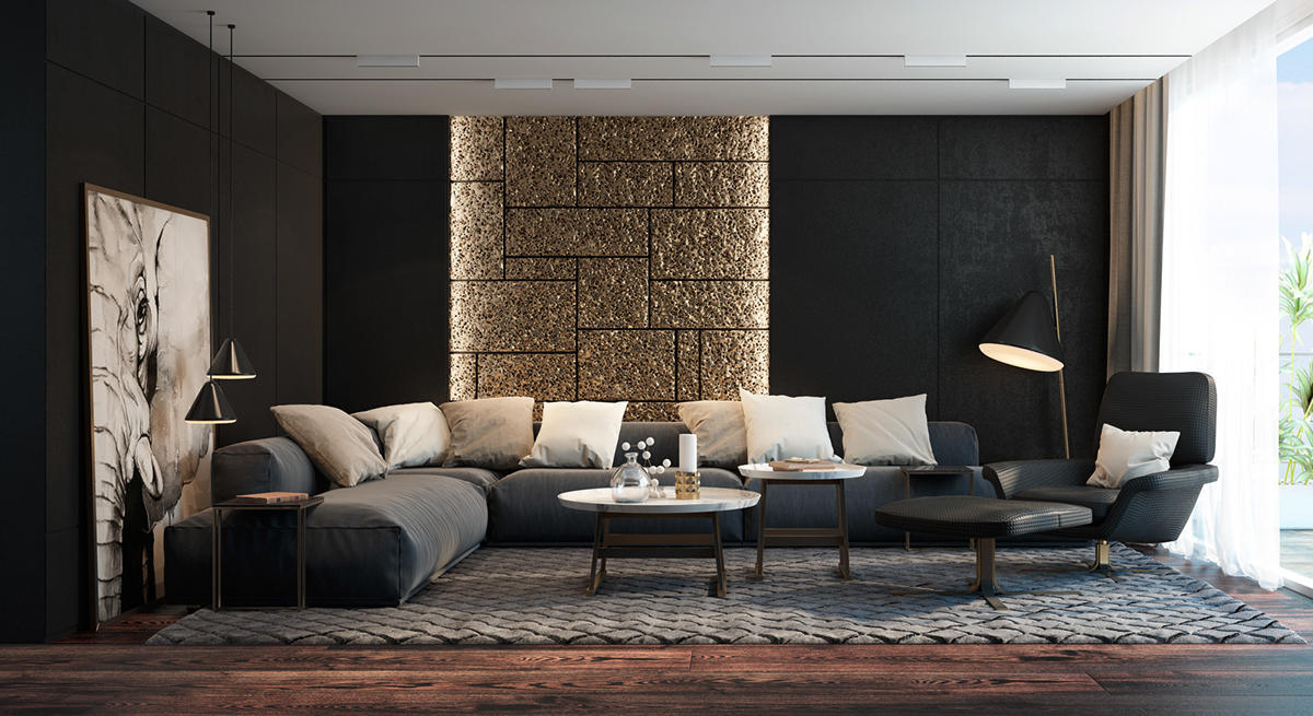 1c0587ae6d0 25 Modern Living Rooms with Cool