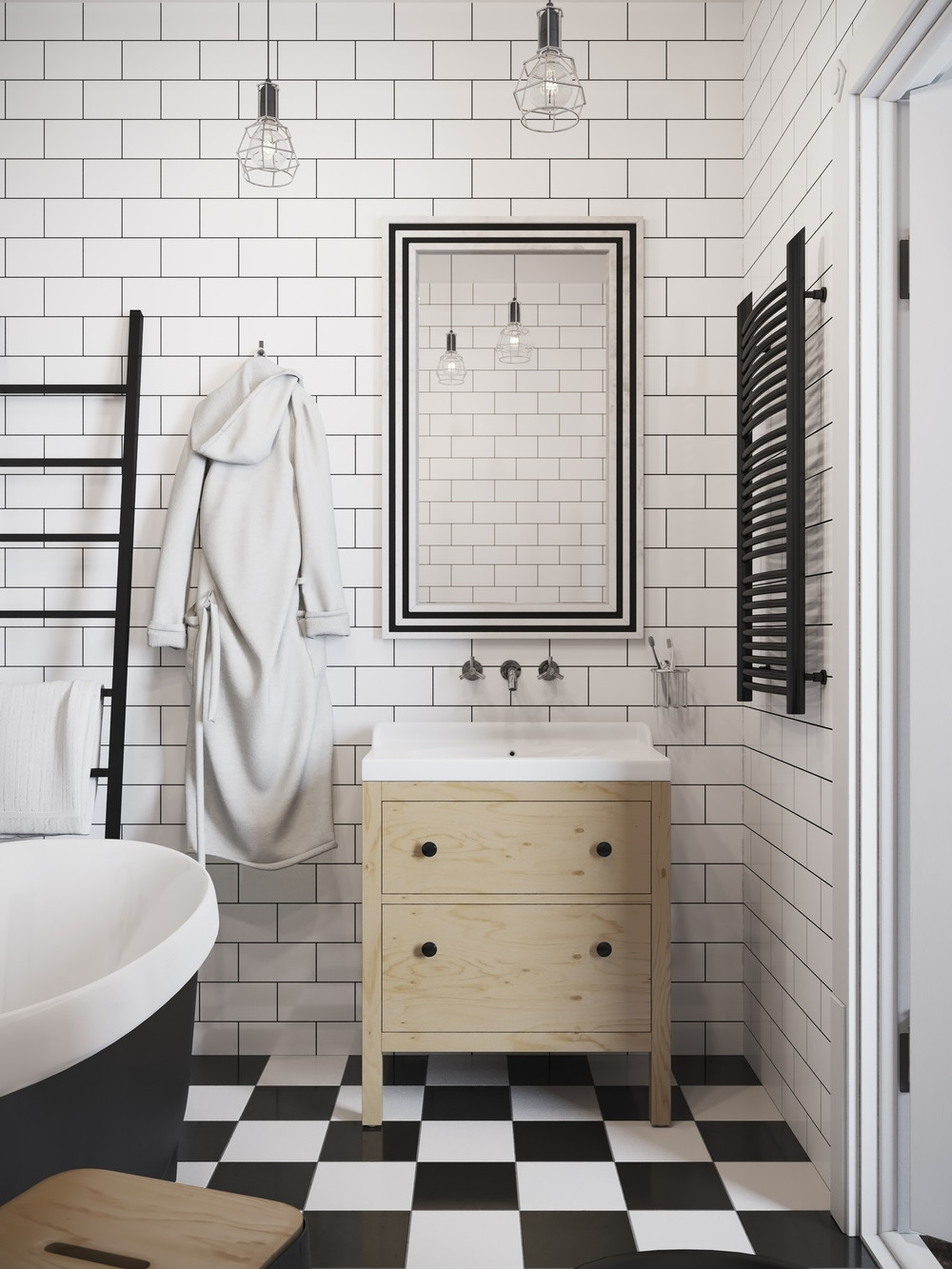 Image Result For Black White Vintage Bathroom Ideas