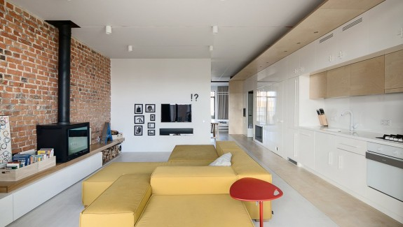 A simple modern home with a lot of personality is perfect for a fun couple