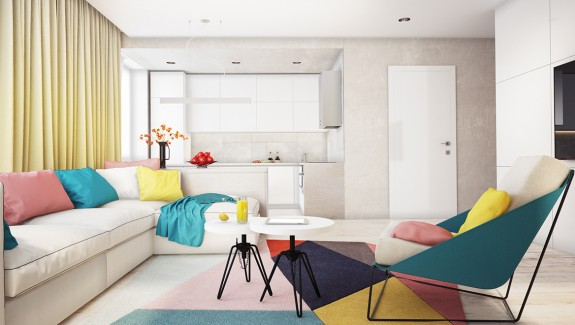 A comfortable modern home with colorful accents four interiors by juliya butova four interiors by juliya butova