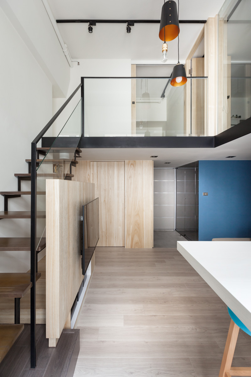House Design Small House Interior Design Loft: Loft Staircase In Modern Apartment