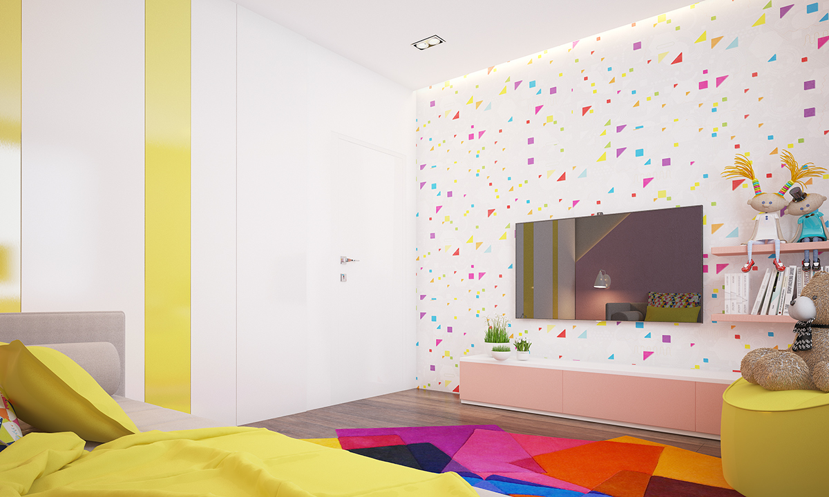two homes with colorful kids rooms included. Black Bedroom Furniture Sets. Home Design Ideas