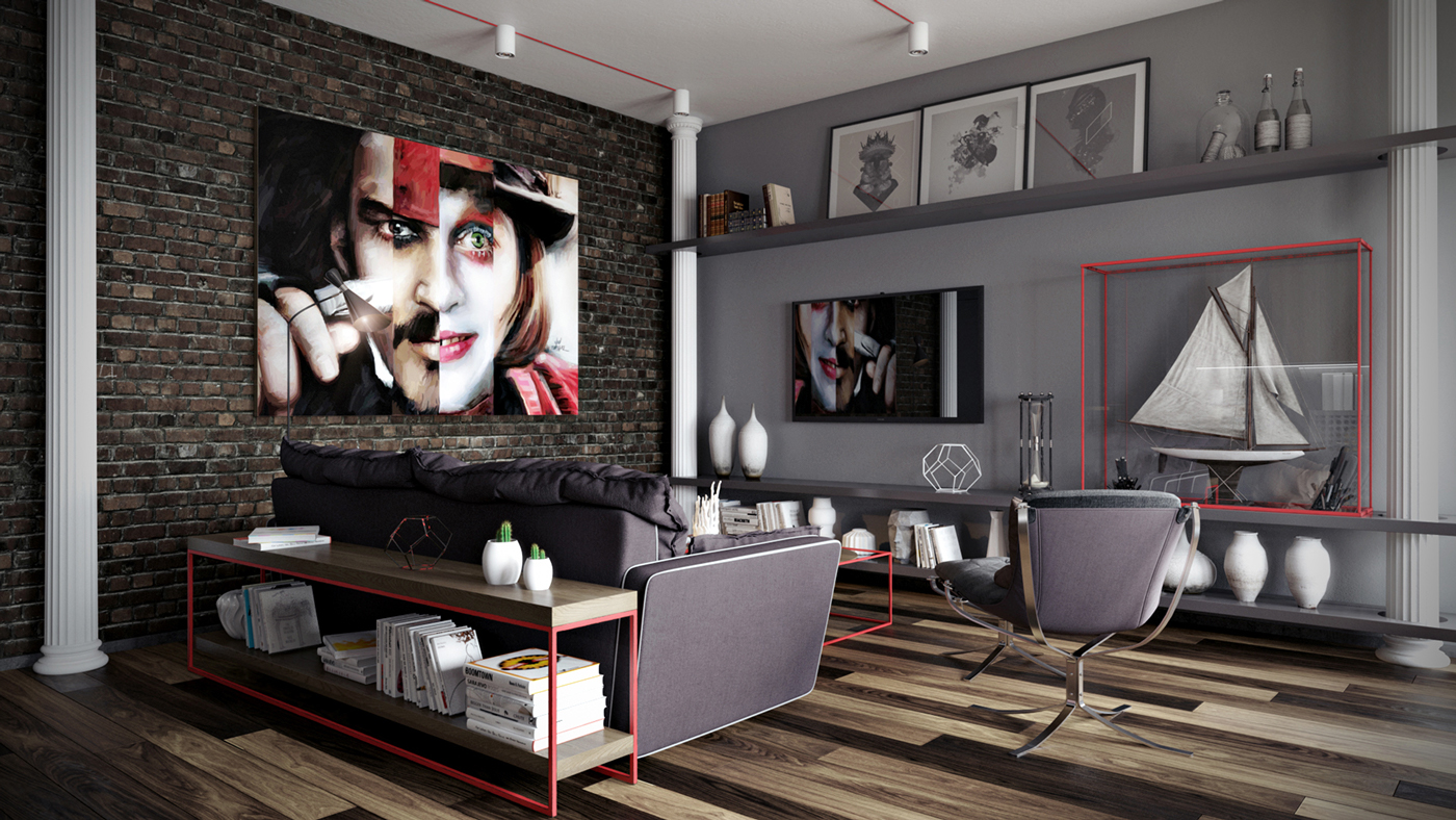 Chic Grey Living Room With Clean Lines: Dark Neutrals And Clean Lines Unite Six Stylish Homes