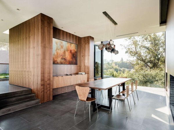 Beverly hills house an upside down house in the woods flips the architectural script slick wood