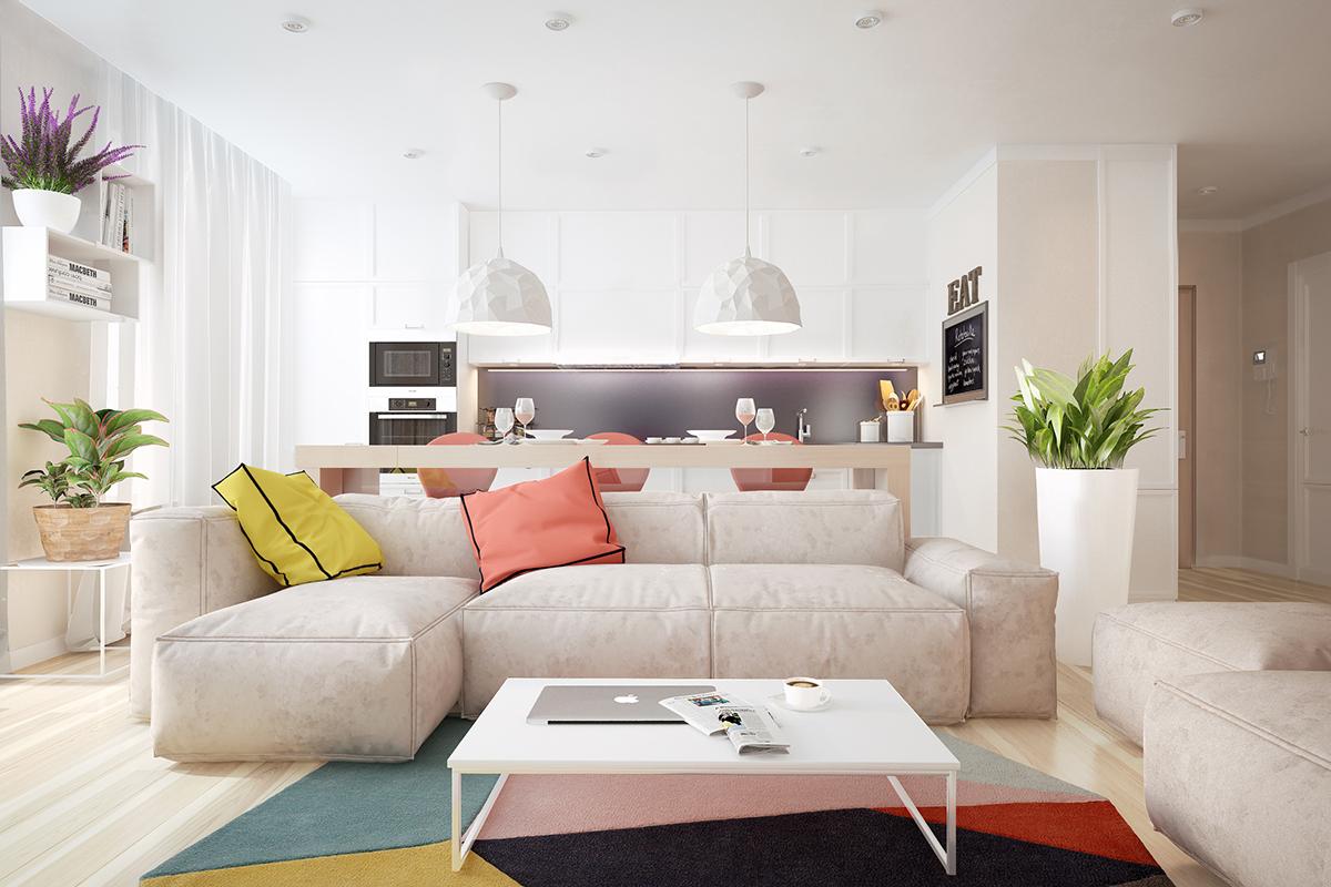 white-beachy-living-room | Interior Design Ideas.