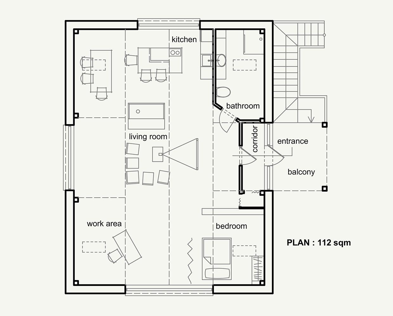 Attic Home Floorplan Interior Design Ideas