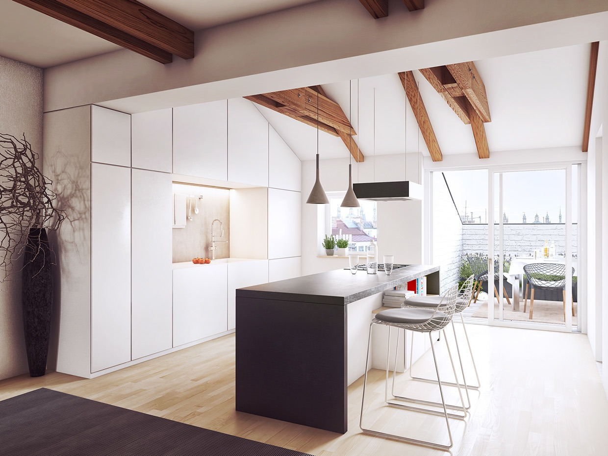 surprising bright sunny kitchen ideas | Five Unique Lofts that Use Space Creatively