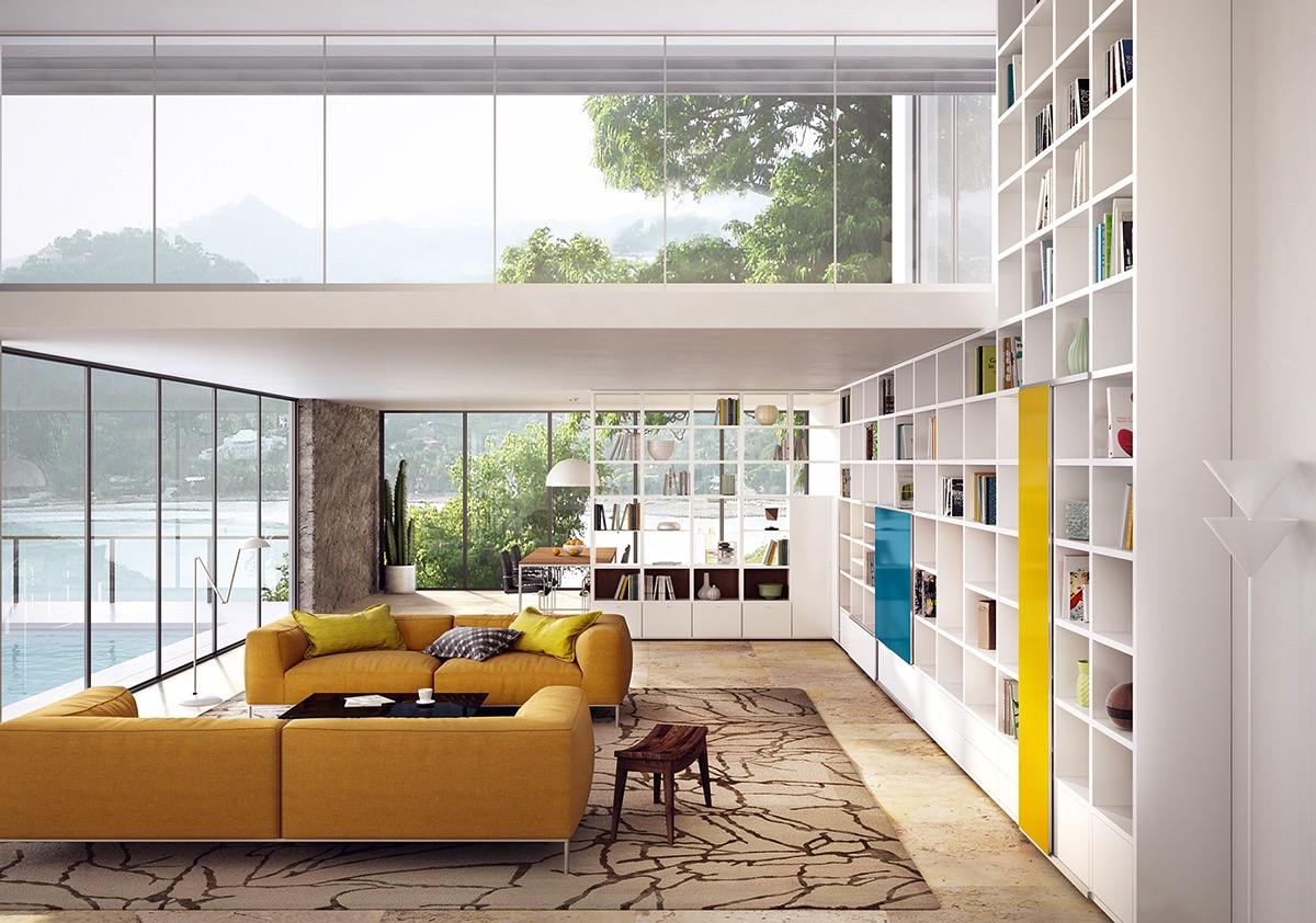 mustard-yellow-sofa | interior design ideas.