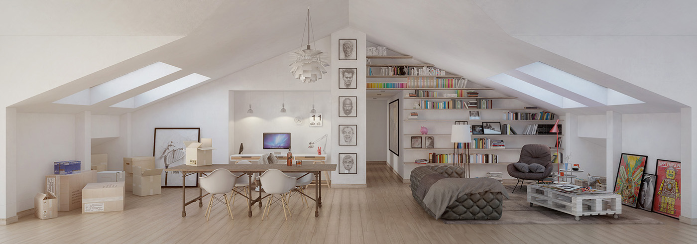 4 Stylish Homes With Slanted Ceilings