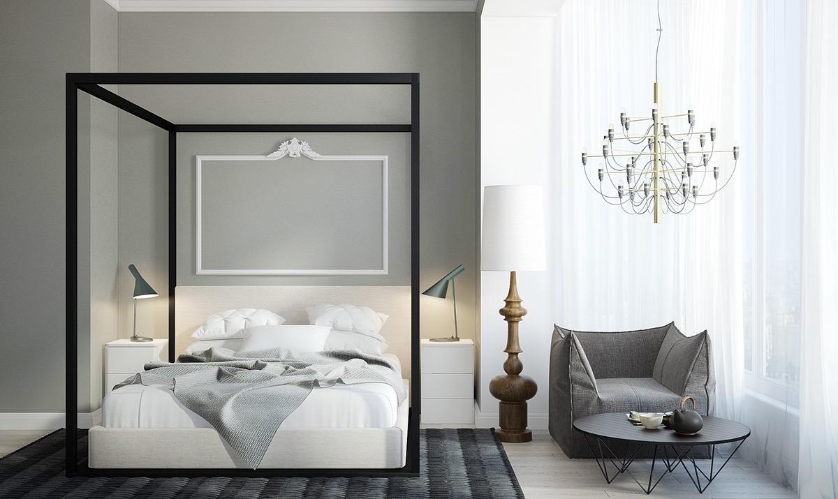 Black Canopy Bed Interior Design Ideas
