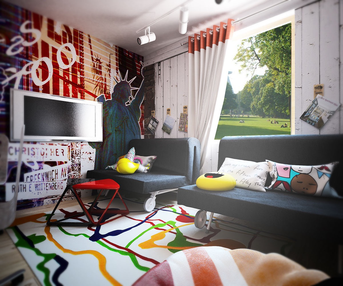 Colorful Living Room Design Interior Design Ideas