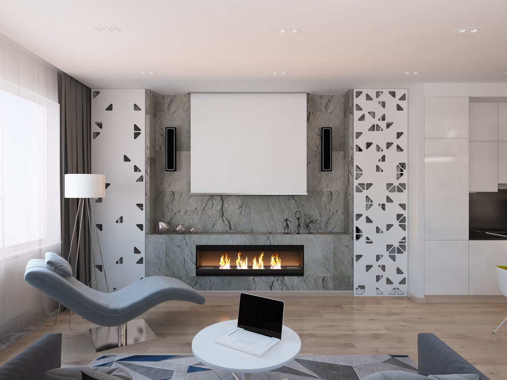 Cool Modern Fireplace Interior Design Ideas