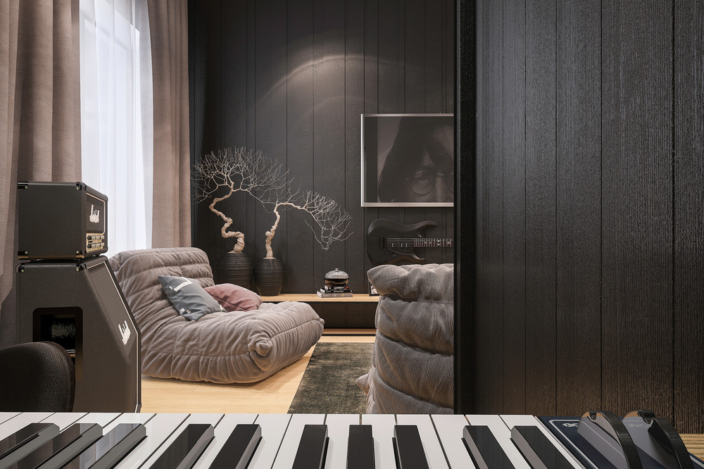 Interior Design For Musicians 2 Music Themed Home Designs