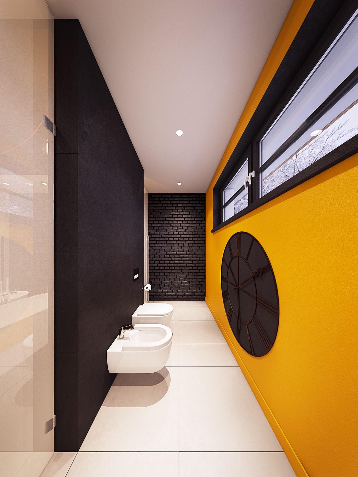 Cool Wall Clock Element Interior Design Ideas