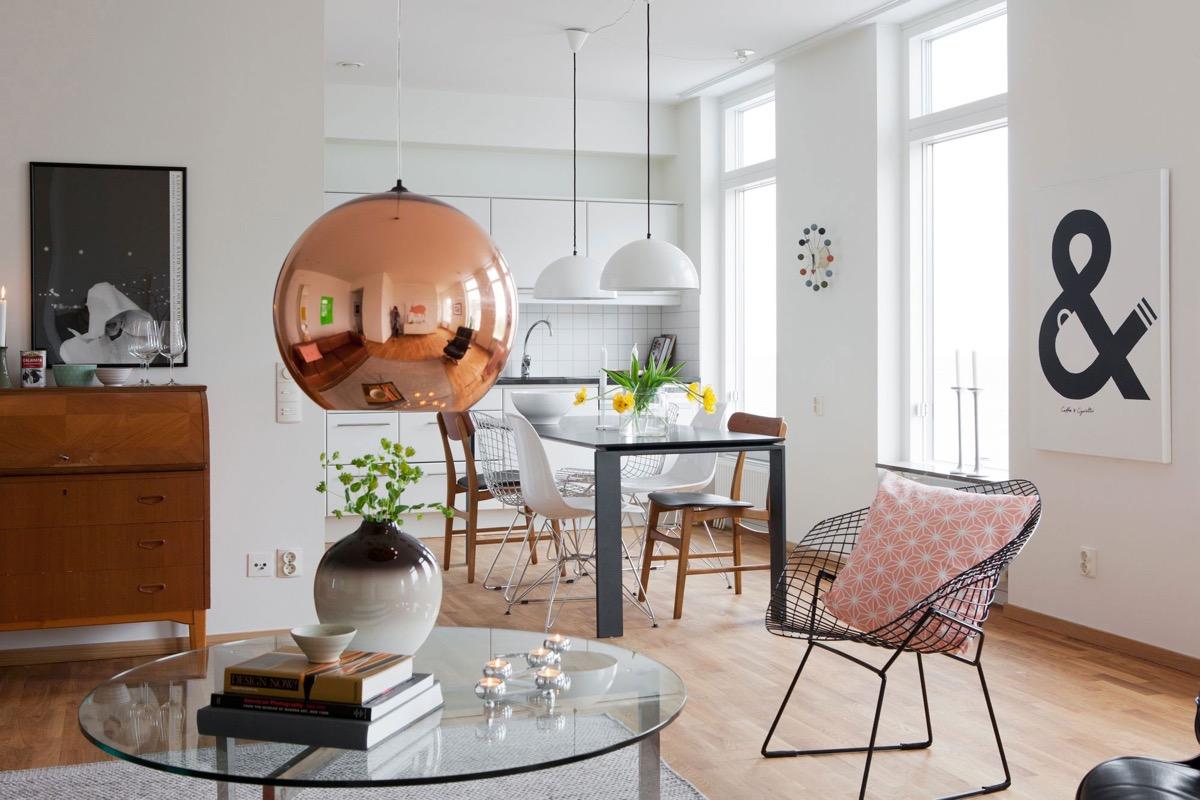 Image of: Copper Light Fixtureinterior Design Ideas