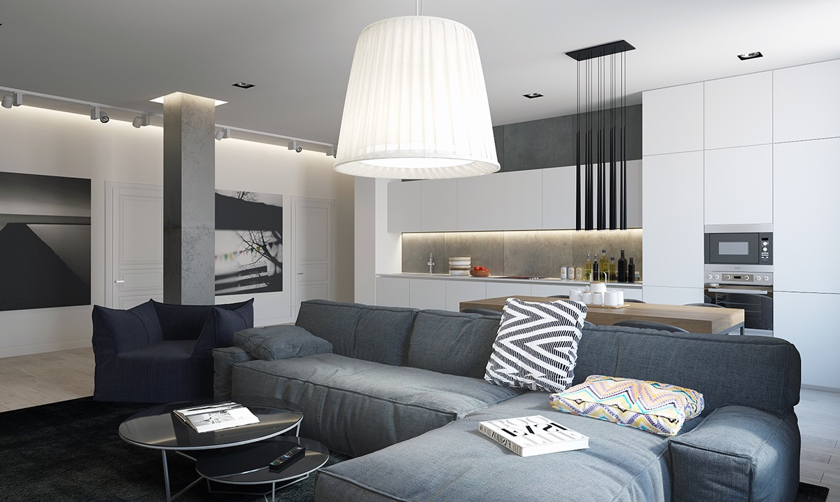 5 spaces with comfortable neutral designs - Modern apartment interior design ...