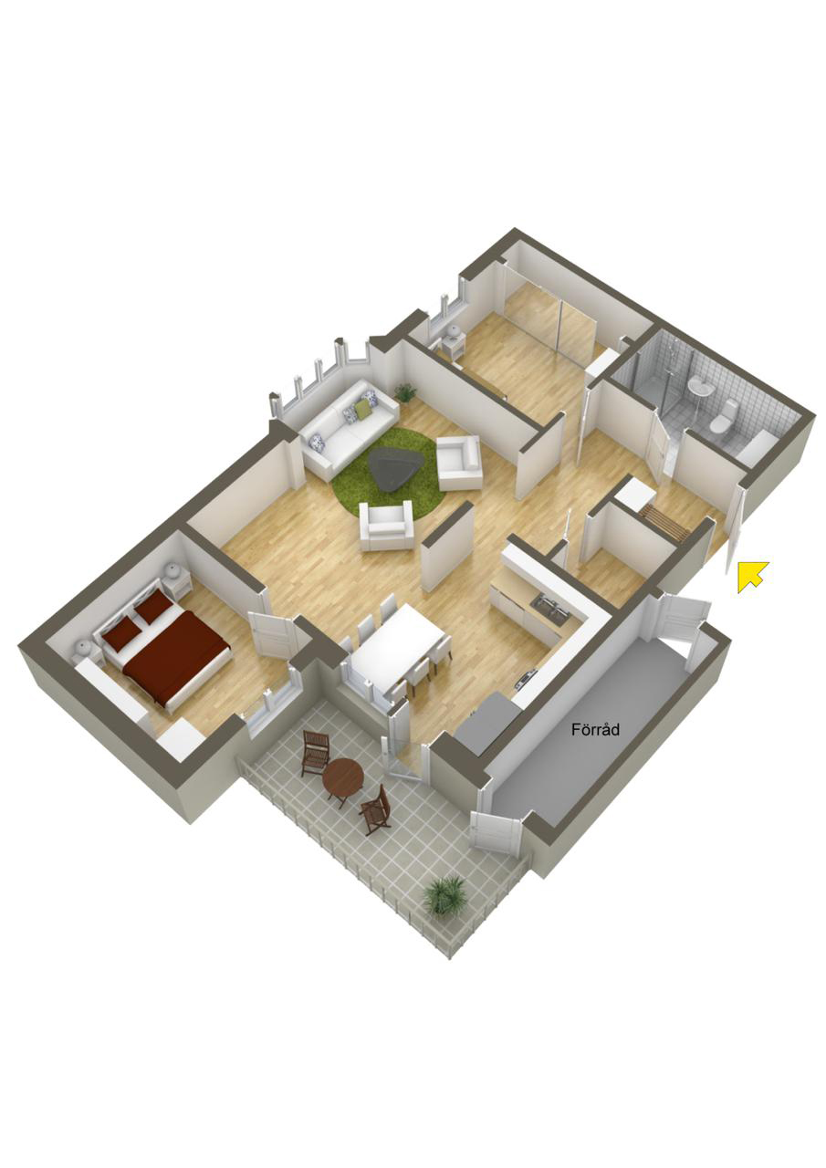 Home Designing Ideas 40 More 2 Bedroom Home Floor Plans