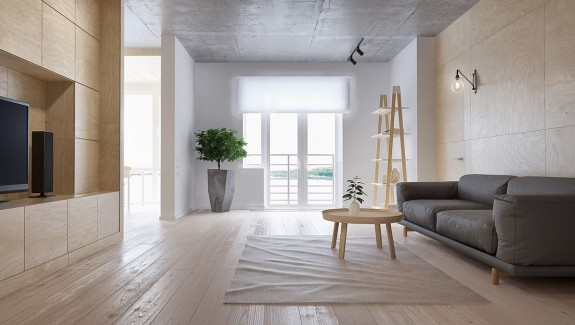 Minimalist Apartment for a Family of Four