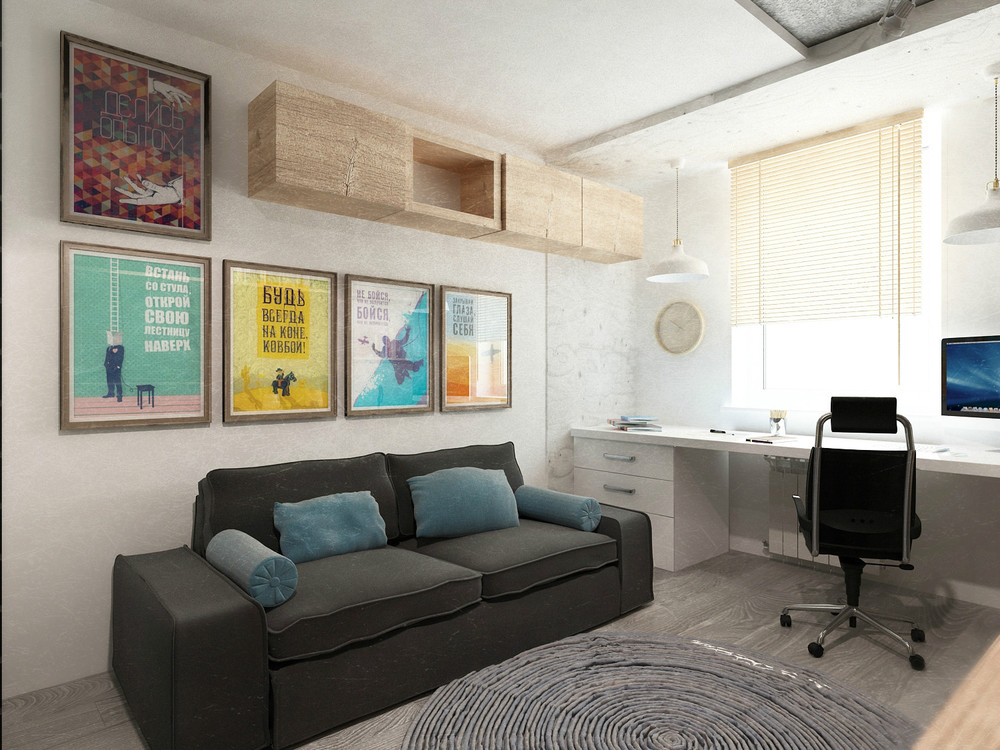 11 designer art ugol the next apartment measures just 40 square meters