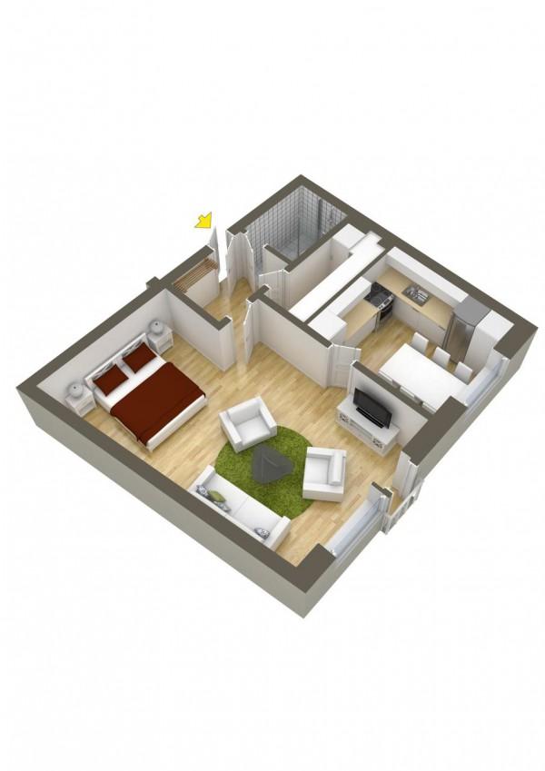 Room Floor Plan Designer Free: 40 More 1 Bedroom Home Floor Plans
