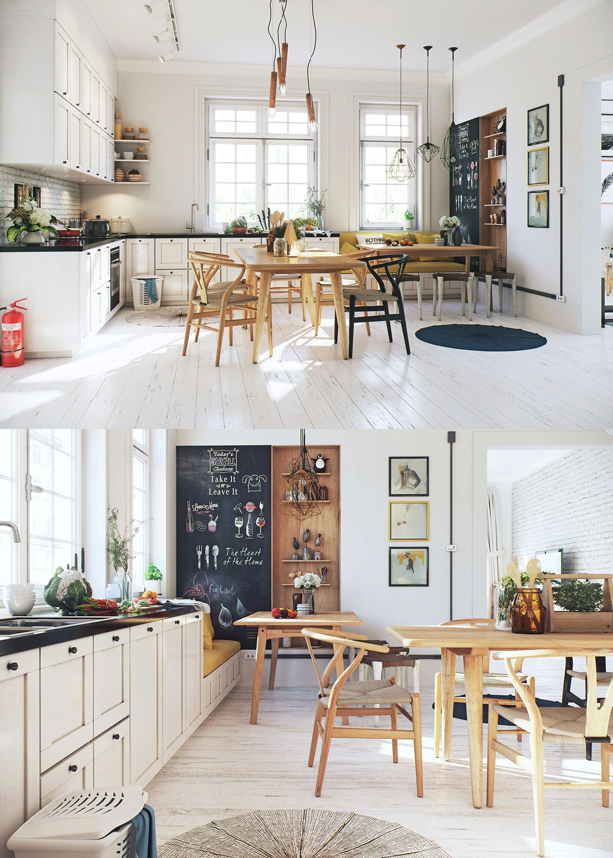 Rustic Scandinavian Dining Room