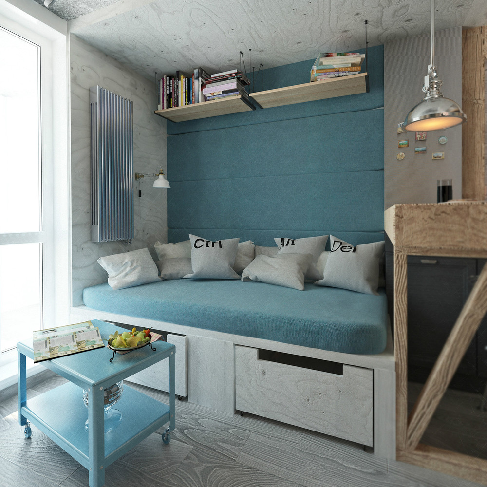 Beautiful Apartments: 4 Small & Beautiful Apartments Under 50 Square Meters