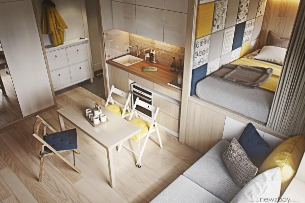 very small house interior design. 1  Designer Ultra Tiny Home Design 4 Interiors Under 40 Square Meters