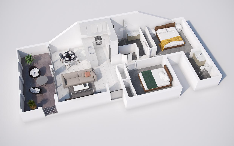 Rooms: 40 More 2 Bedroom Home Floor Plans