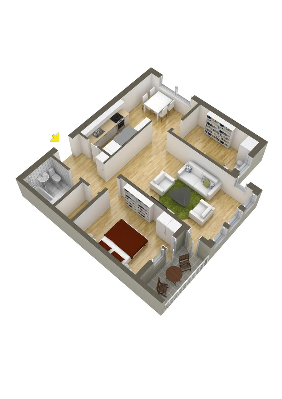 40 More 2 Bedroom Home Floor Plans