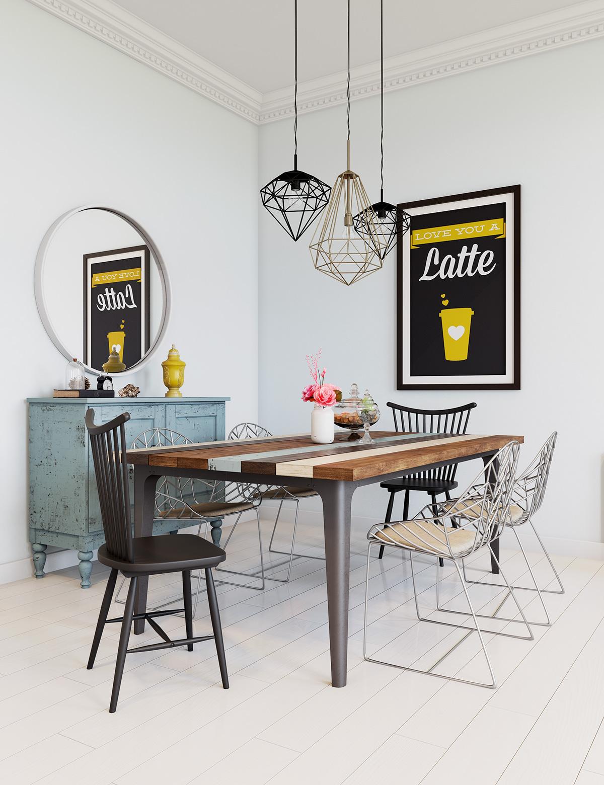 wire dining chairs interior design ideas rh home designing com