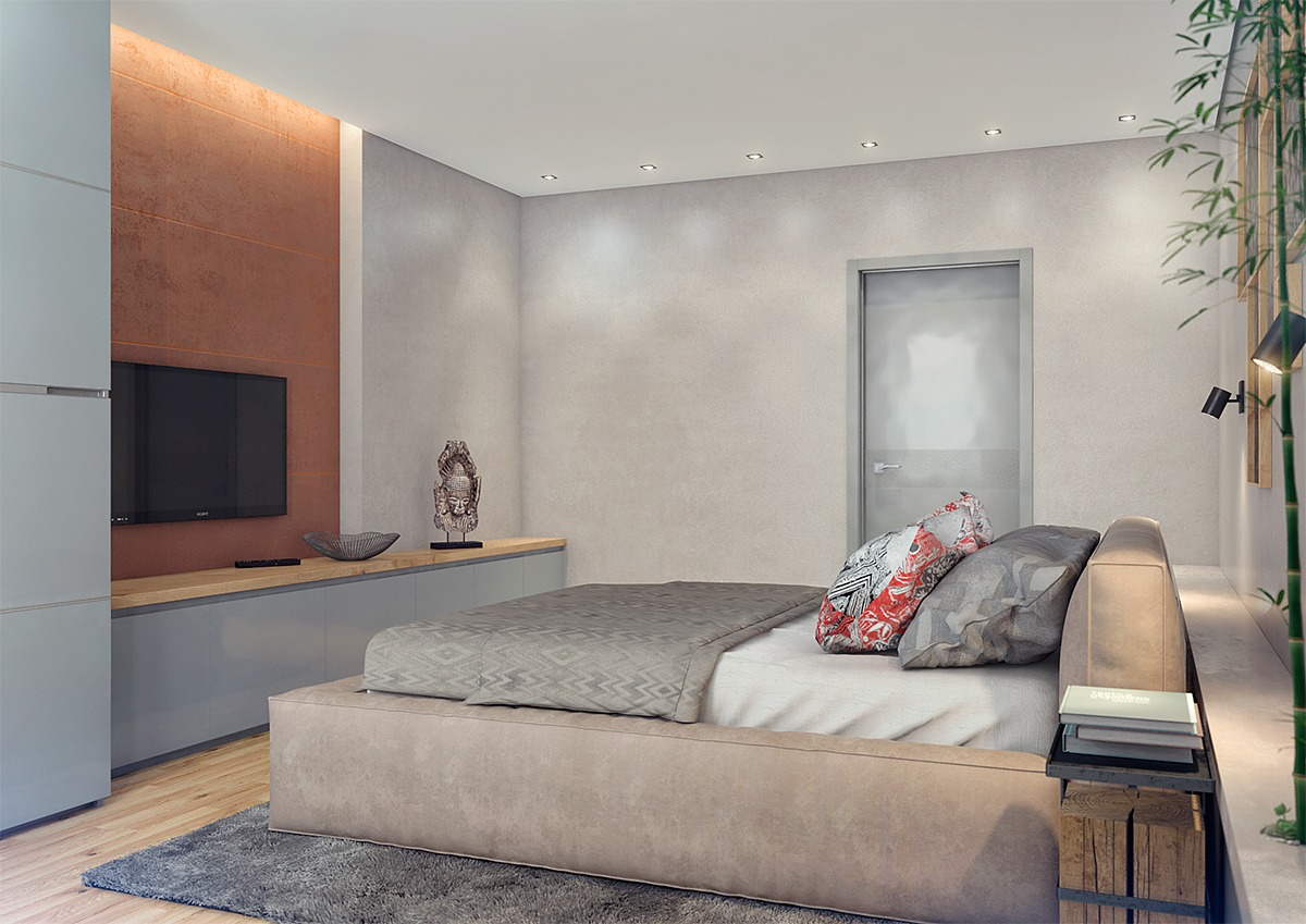 asian inspired bedrooms two lovely apartments featuring wood paneling 10125
