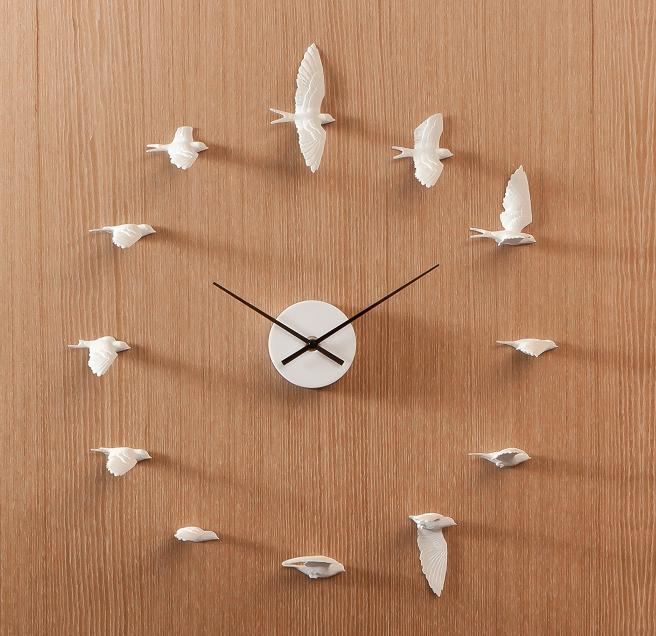 Bird Wall Clock Interior Design Ideas
