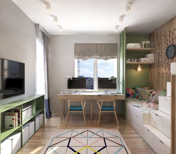 Kids Rooms Climbing Walls And Contemporary Schemes: A Contemporary Apartment With Lots Of Open Space